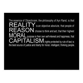 Objectivism Postcard