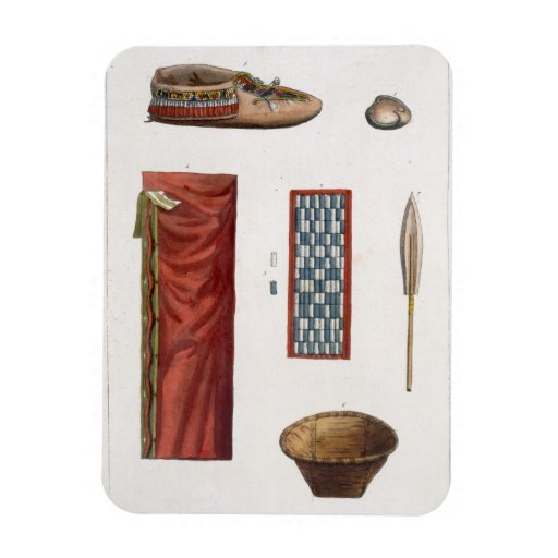 Objects belonging to Canadian Indians (colour engr Vinyl Magnets