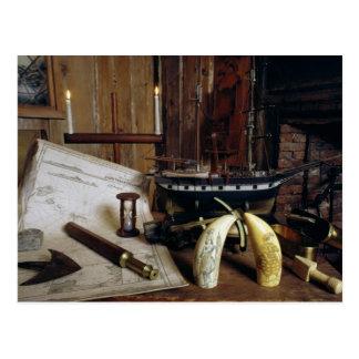 Objects from a Nineteenth Century Captain's Desk Postcard