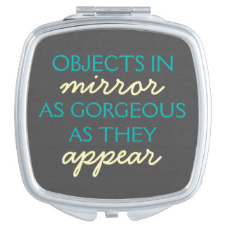 Objects in Mirror: Gorgeous as they Appear - Teal Vanity Mirrors
