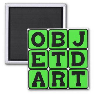 Objet d'Art, Art Object Square Magnet