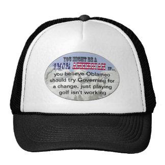 oblameo golf playing trucker hat
