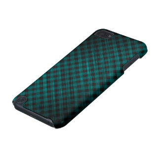 oblique checkered dark turquoise pattern iPod touch 5G case