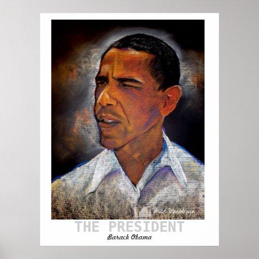 obma, THE PRESIDENT, Barack Obama, Fred Makubuya Poster