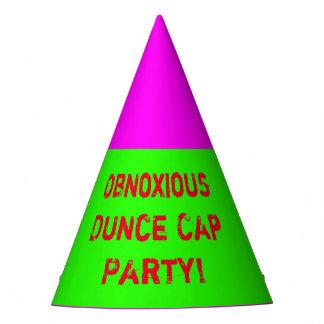 Obnoxious Dunce Cap Party!