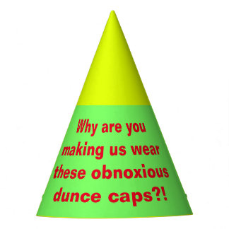 Obnoxious Dunce Caps Party Hat
