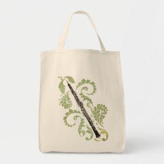 Oboe and Foliage Tote Bag