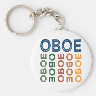 Oboe Colorful Key Ring
