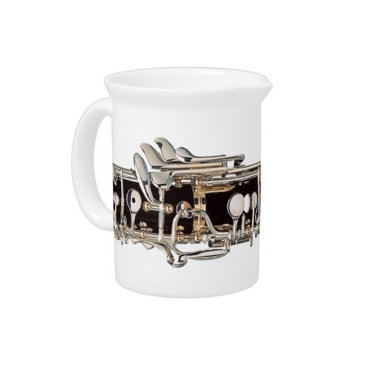 Oboe Keys Creamer Drink Pitchers