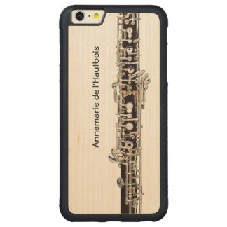 Oboe Keys, Customizable Name Carved Maple iPhone 6 Plus Bumper Case