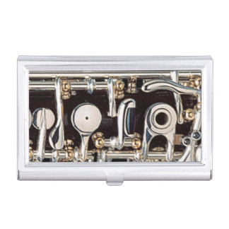 Oboe Keys Detailed Close-Up View Business Card Holder