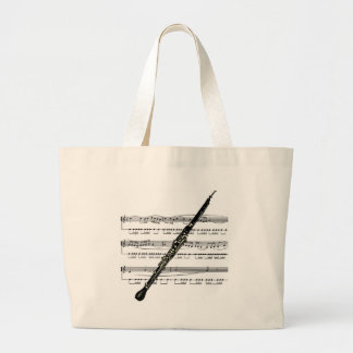 Oboe musical 01 B Large Tote Bag