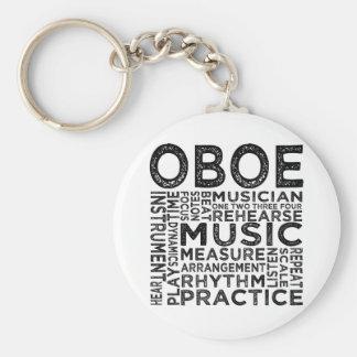 Oboe Typography Key Ring
