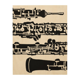 "Oboe Wood Panel   11"" x 14"""