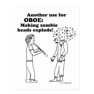 Oboe Zombie Explode Postcard