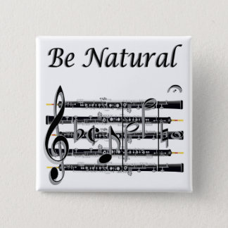 Oboists Know How to B Natural 15 Cm Square Badge