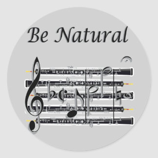 Oboists Know How to B Natural Classic Round Sticker