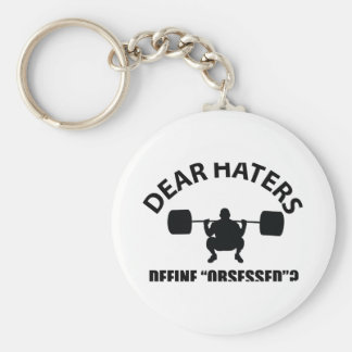 obsessed with weightlifting keychain