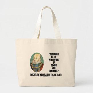 Obsession Wellspring Genius Madness de Montaigne Canvas Bag