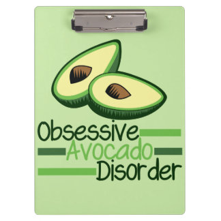 Obsessive Avocado Disorder Cool Green Clipboard