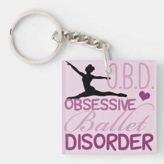 Obsessive Ballet Disorder Key Ring