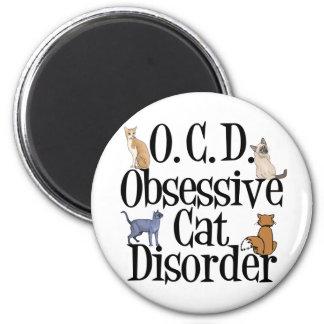 Obsessive Cat Disorder Refrigerator Magnet