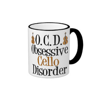 Obsessive Cello Disorder Ringer Mug