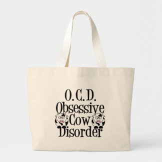 Obsessive Cow Disorder Large Tote Bag
