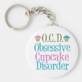 Obsessive Cupcake Disorder Basic Round Button Key Ring