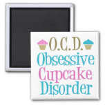 Obsessive Cupcake Disorder Square Magnet