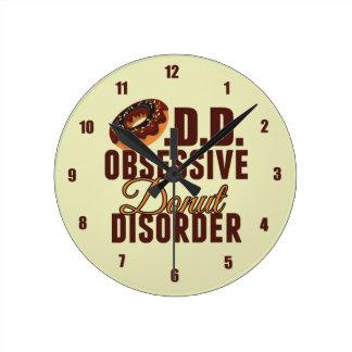 Obsessive Donut Disorder Round Clock
