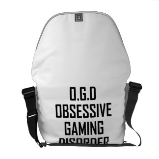Obsessive Gaming Disorder Courier Bags