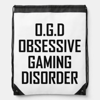 Obsessive Gaming Disorder Drawstring Bag