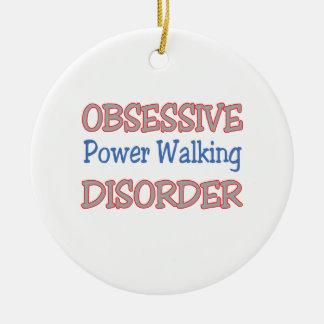 Obsessive Power Walking Disorder Ceramic Ornament