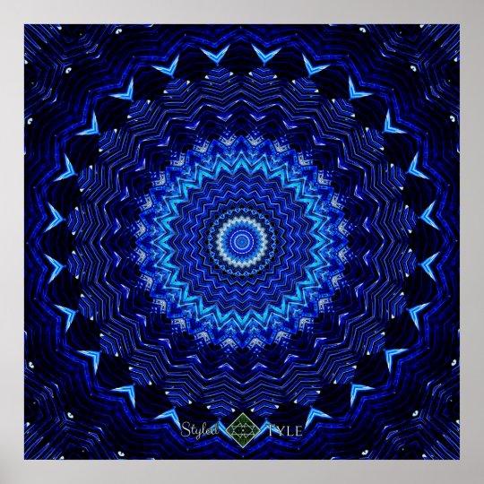 Obsidian Mandala Poster