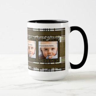 OBSOLETE: Grandpa 4 Photo Brown Mug