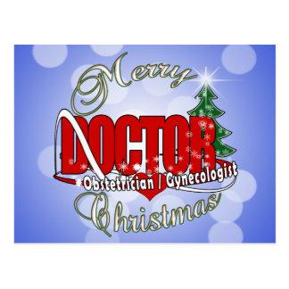 OBSTETRICIAN / GYNECOLOGIST CHRISTMAS DOCTOR POSTCARD