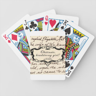 Obstinate, headstrong girl! bicycle playing cards