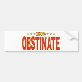Obstinate Star Tag Bumper Stickers