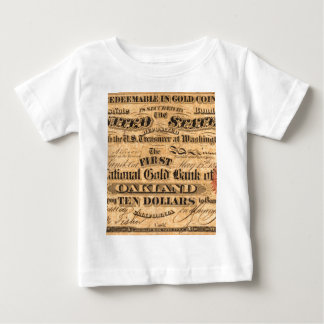 Obverse of a $10 National Gold Bank Note ca. 1870 Baby T-Shirt