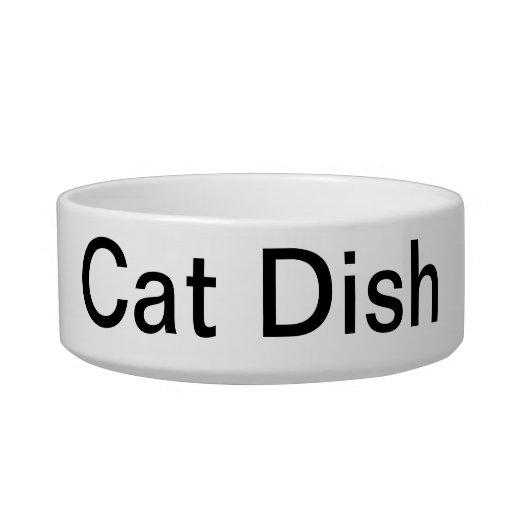 Obvious Cat Dish Pet Food Bowl