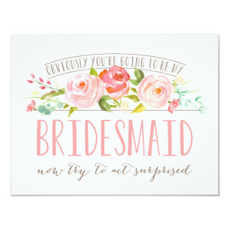 Obviously Bridesmaid Rose Garden Card 11 Cm X 14 Cm Invitation Card