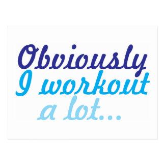 Obviously I workout a lot Postcard