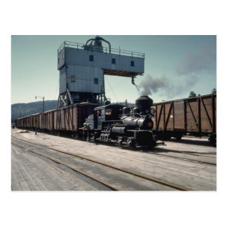 OBW 18 ton Shay locomotive Postcard