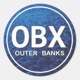OBX Beach Tag Round Sticker