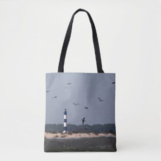 OBX  Lighthouse Tote Bag