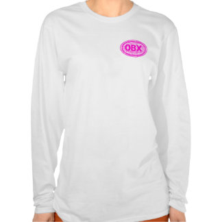 OBX Outer Banks NC Floral Beach Tag T-Shirt