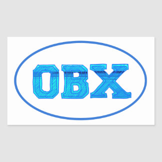 OBX Outer Banks Rectangular Sticker