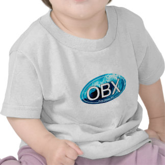 OBX Outer Banks Wave Oval Tee Shirts