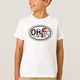 OBX Skull and Crossbones Pirate Kids T-Shirt